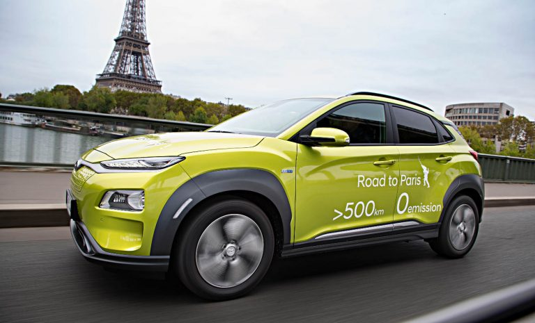 Hyundai Kona: Elektrischer Roadtrip nach Paris