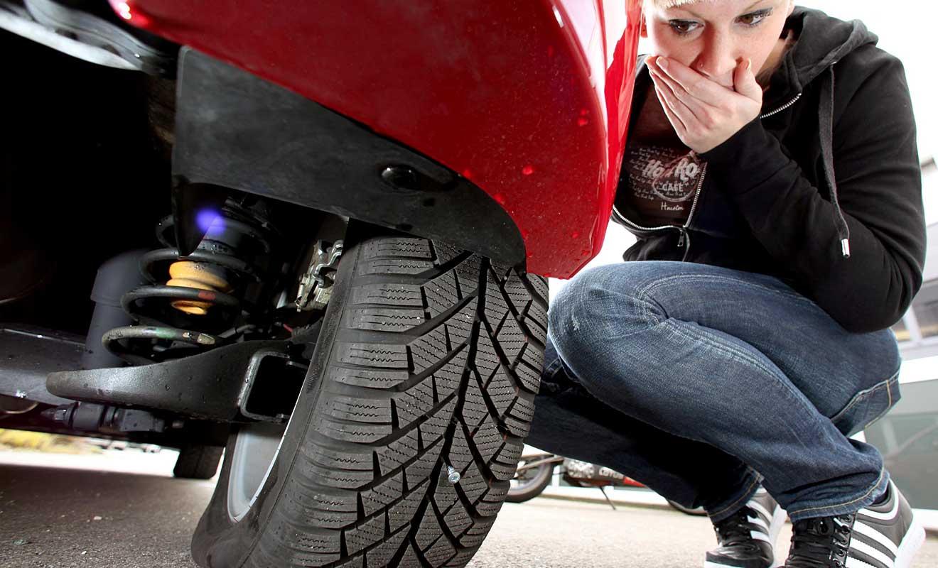Reifenpanne. Foto: GTÜ