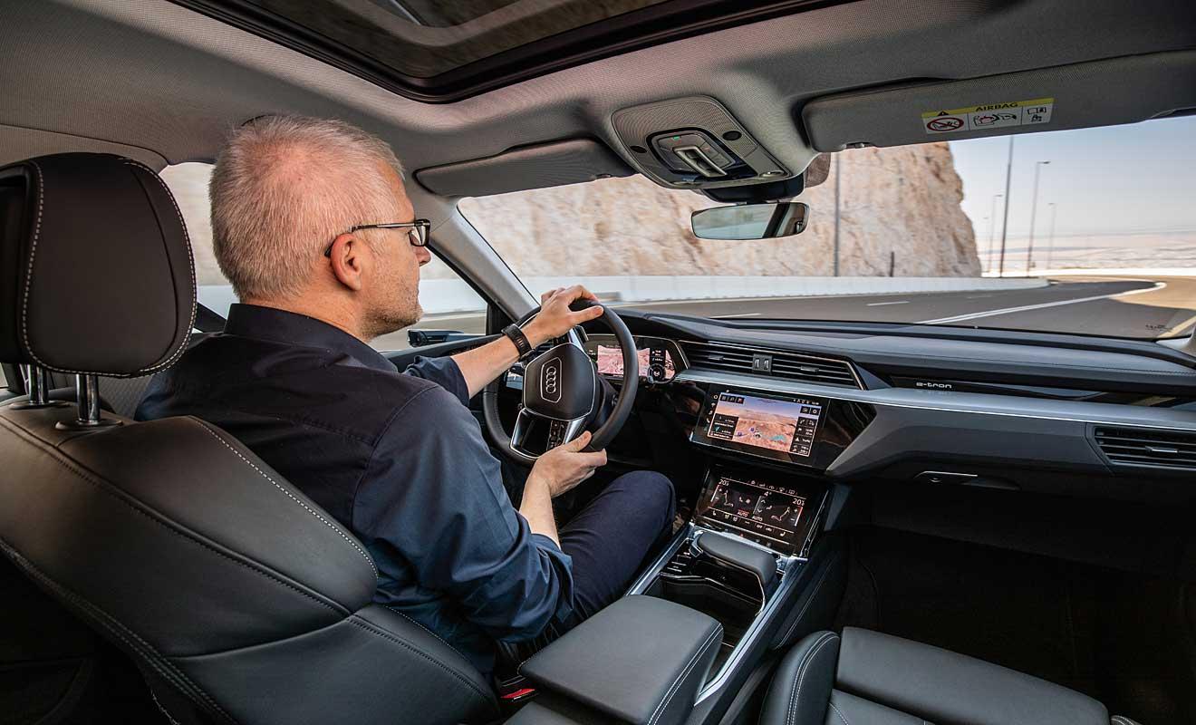 Das Cockpit des Audi e-tron. Foto: Audi