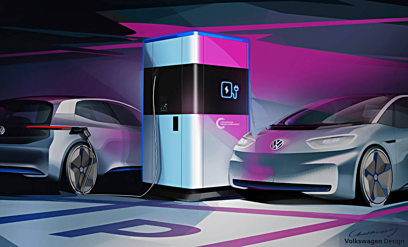VW bietet mobile Powerbank für Elektroautos