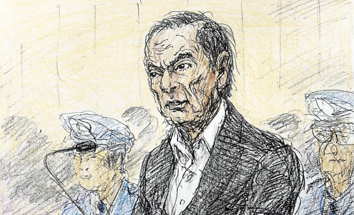 Carlos Ghosn vor Gericht. Foto: dpa