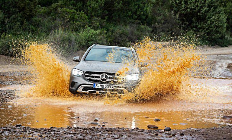 Mercedes GLC: Er erkennt auch Radfahrer