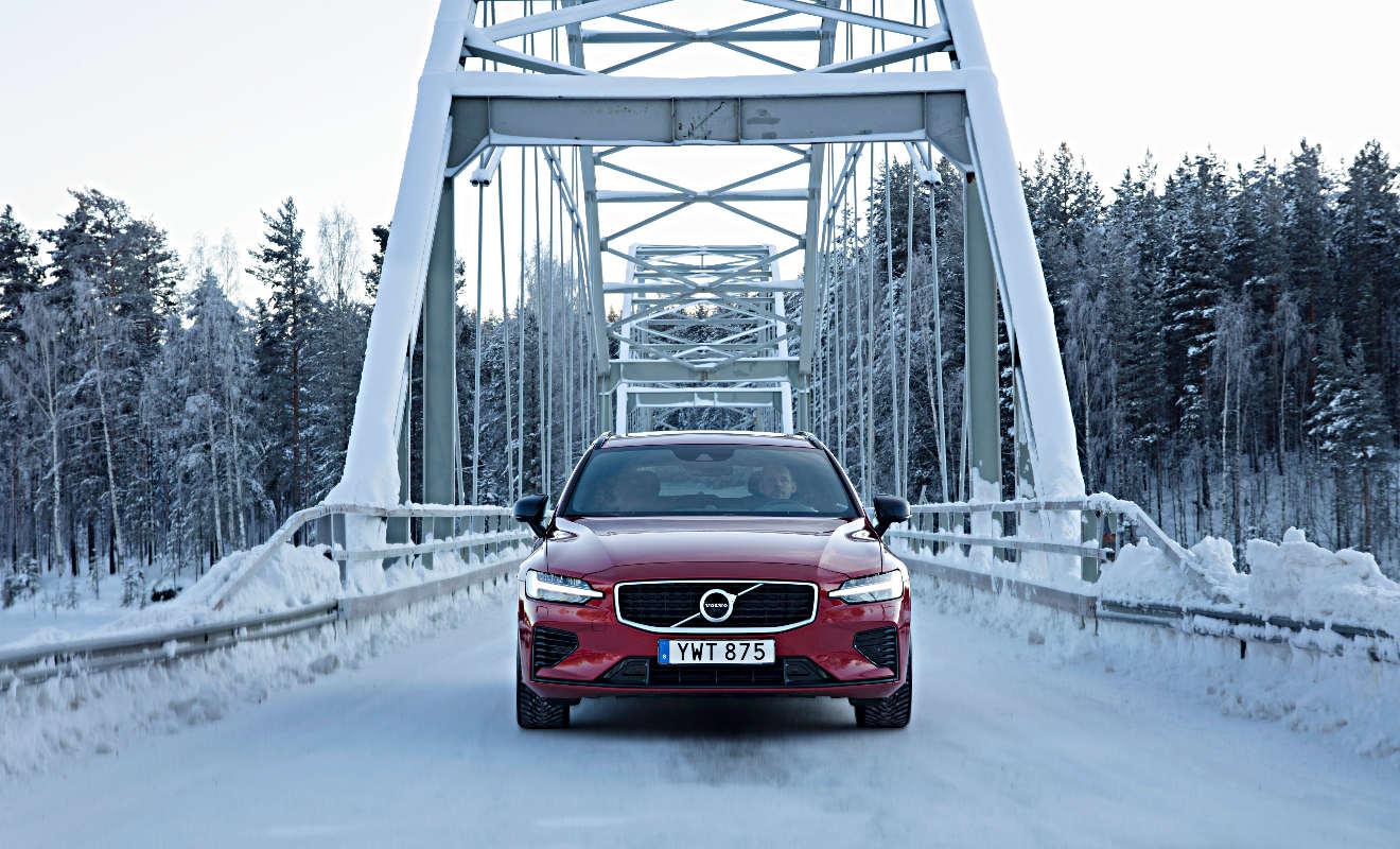 Volvo V60 T8 Leise Durch Den Schnee Autogazette De