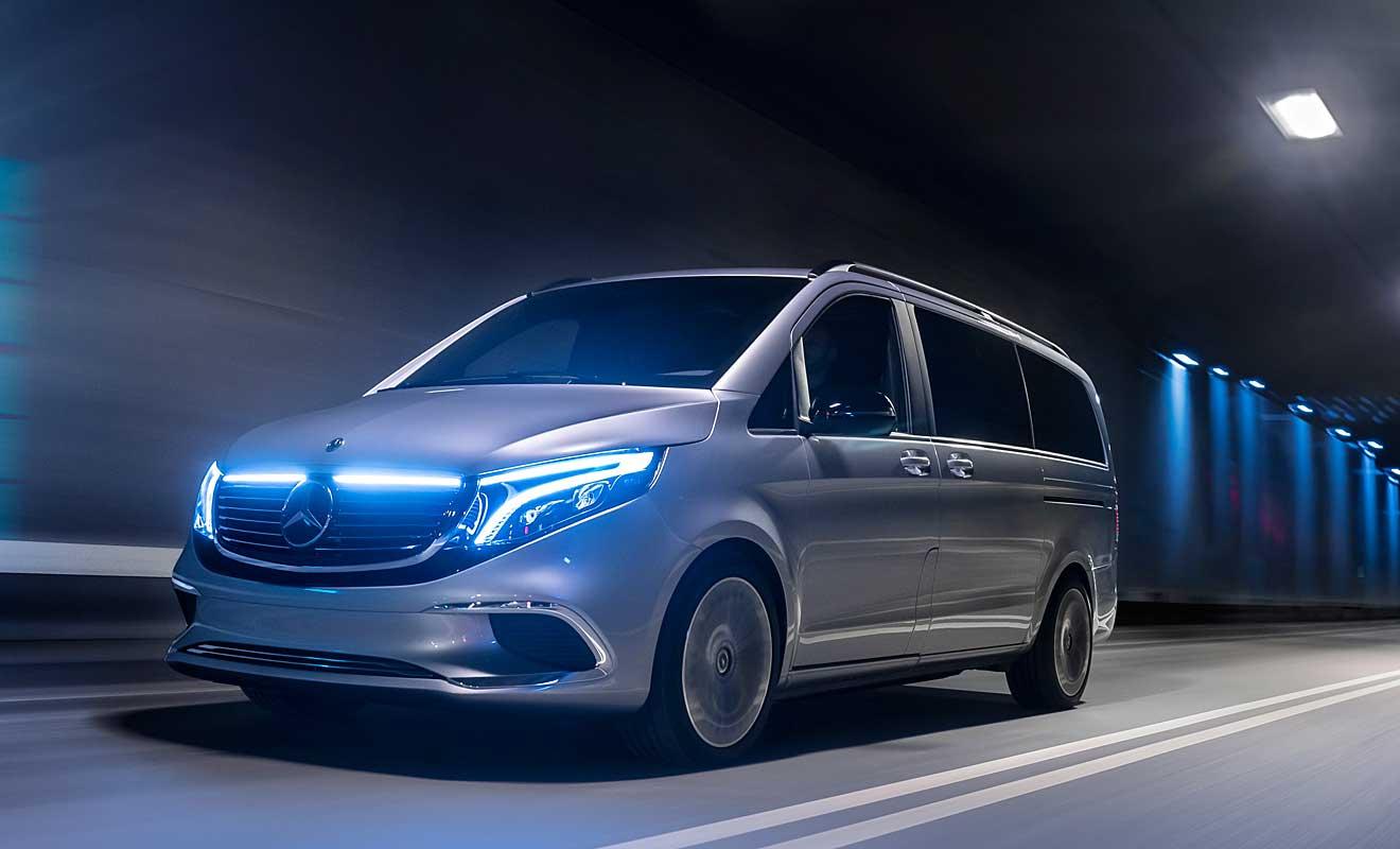 Der Mercedes EQV. Foto: Daimler