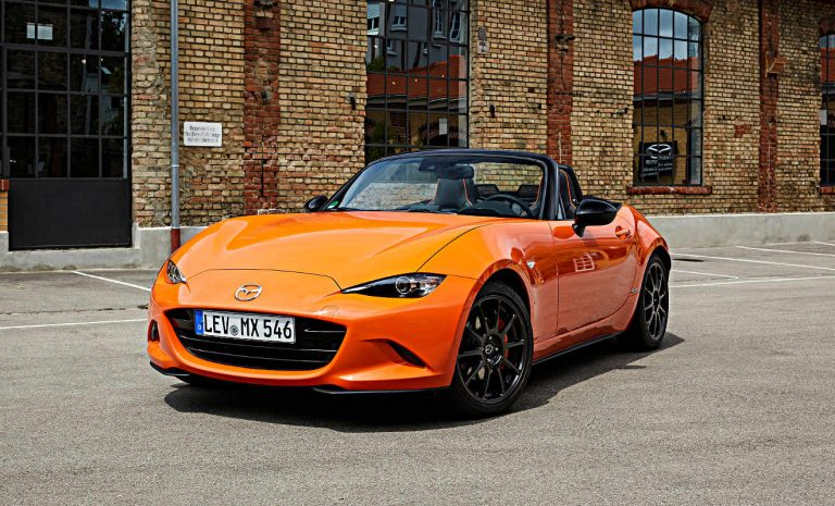 Mazda MX-5: Jubiläums-Roadster im knalligen Orange