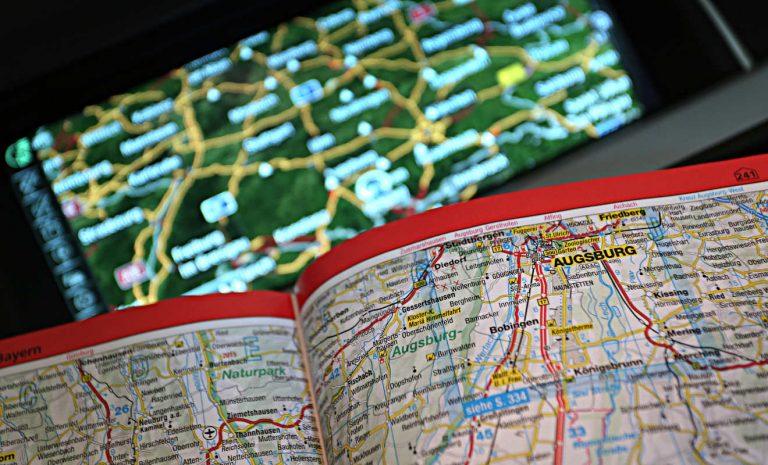 Navigationsgeräte haben Straßenatlas verdrängt