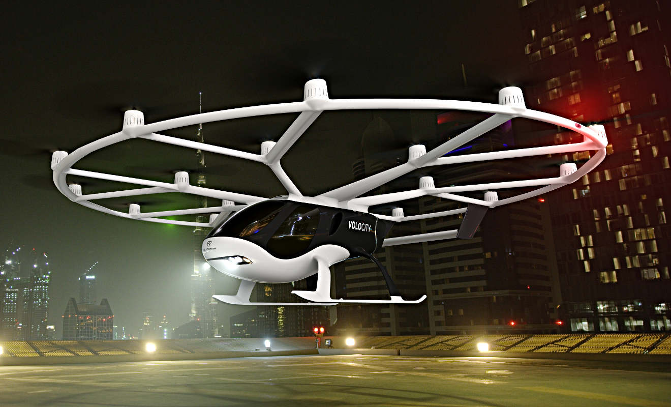 Multicopter-Pionier Volocopter zeigt neues Flugtaxi