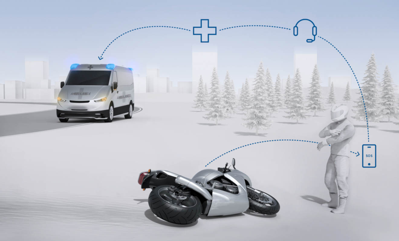 Schutzengel Motorradfahrer