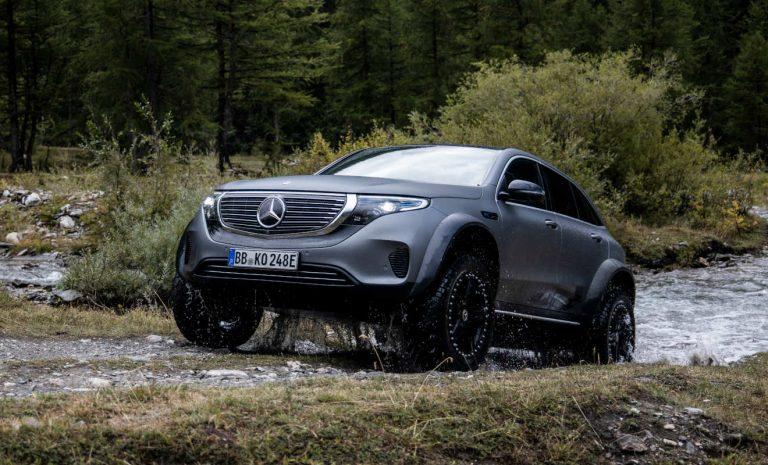 Mercedes EQC 4×4 hoch 2: Aufgebockter Elektro-SUV