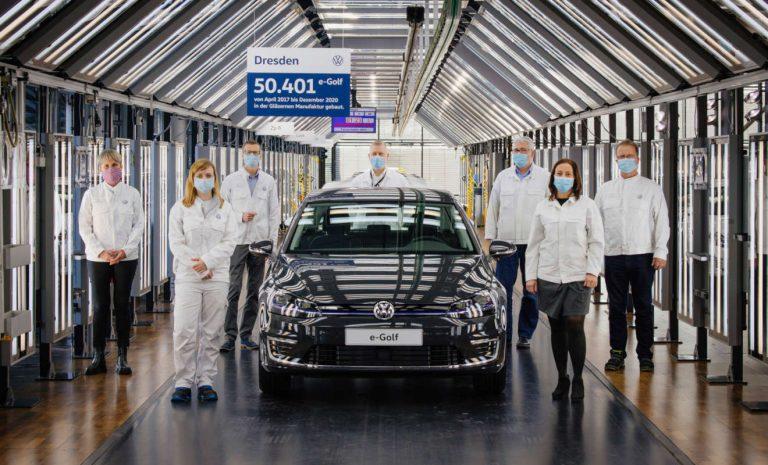 Letzter VW e-Golf in Dresden vom Band gelaufen