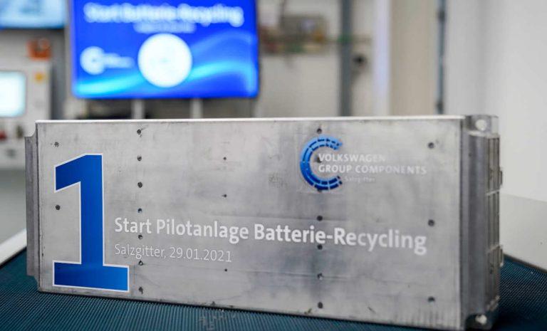 Volkswagen startet Recycling von Hochvolt-Batterien