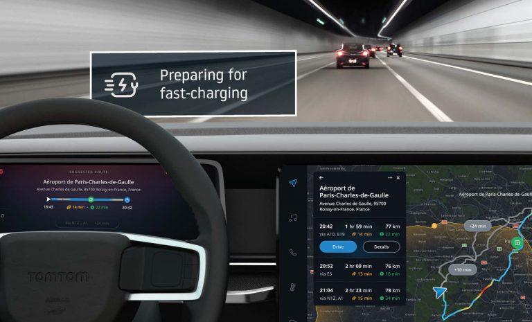TomTom rüstet Navigationssysteme für E-Autos auf