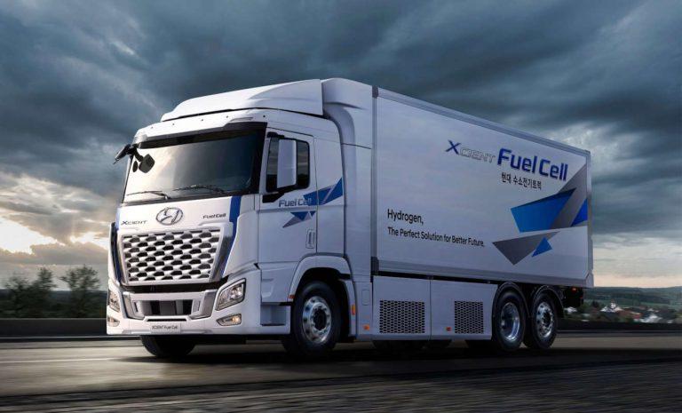 Hyundai XCient: 1600 Brennstoffzellen-Lkw bis 2025