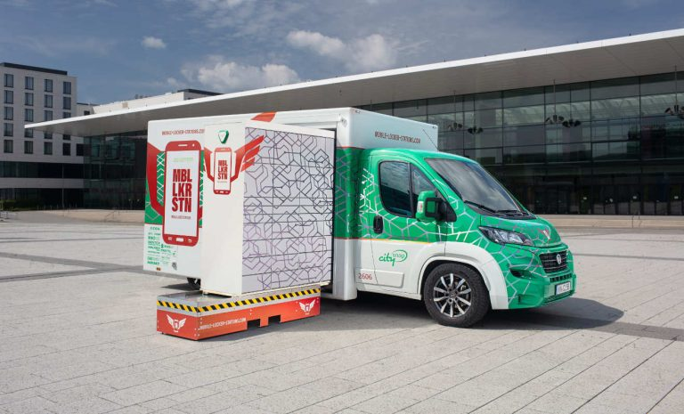 Rinspeed City-Snap: Mobile Packstation spart CO2 ein