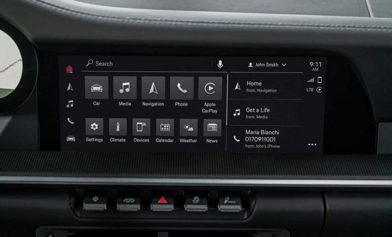 Porsche mit neuer Infotainment-Generation