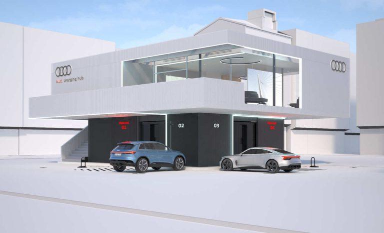 Audi setzt auf komfortable Charging-Hubs