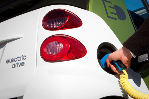 Aufladung des Smart Electric Drive