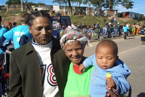 Eine Familie in KwaLanga