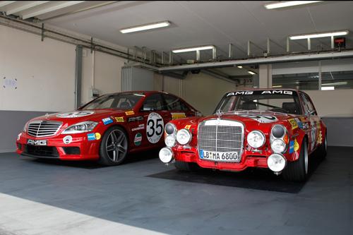 Der Mercedes S 63 AMG und der 300 SEL