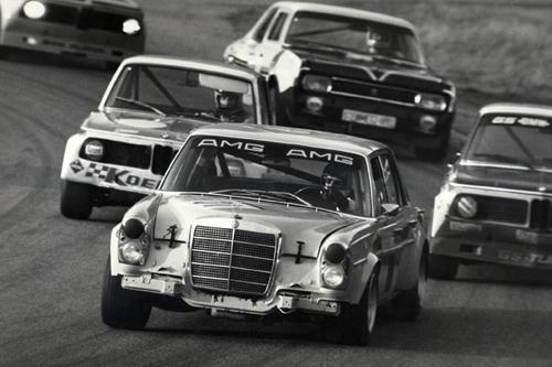 Der Mercedes SEL beim Rennen 1971 in Spa