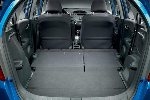 Der Kofferraum des Honda Jazz