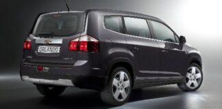 Das Heck des Chevrolet Orlando