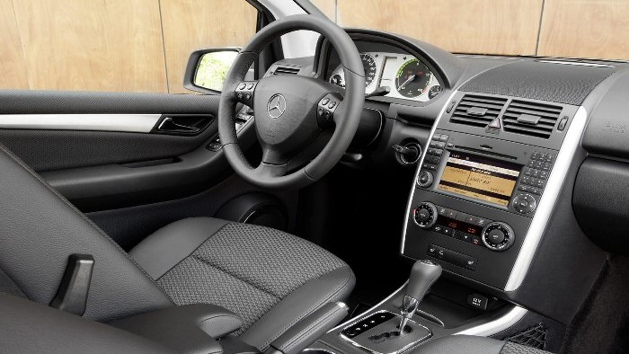 Innenraum der Elektroversion der Mercedes A-Klasse