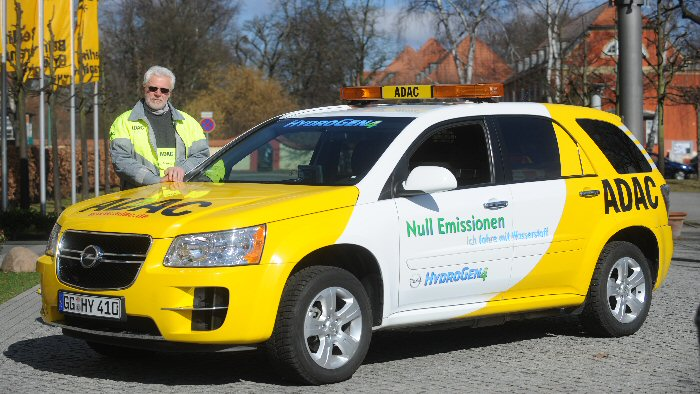 Opel Hydrogen4: Emissionsfrei im «Gelben Engel» des ADAC