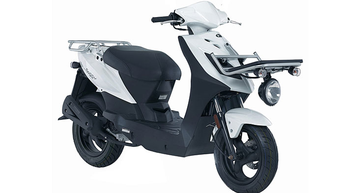 Pizzatransport mit der Kymco Agility Carry 50