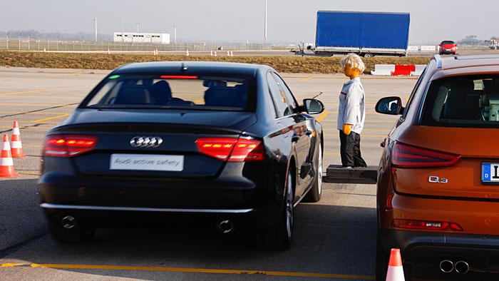 Audi auf dem Weg zum unfallfreien Fahren