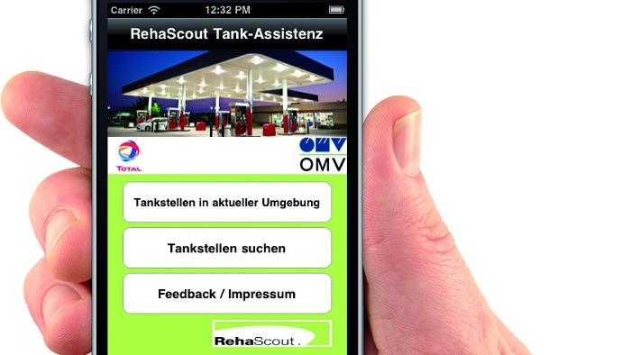 Neue App hilft Behinderten beim Tankstopp