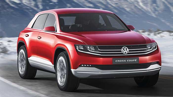VW zeigt die Studie Cross Coupé auf dem Autosalon in Genf