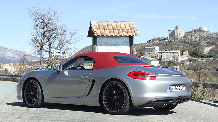 Der Porsche Boxster S.