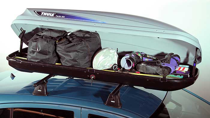 Leichtes Gepäck in die Dachbox