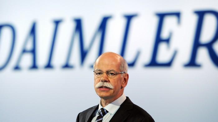 Daimler-Chef Dieter Zetsche ist erfolgreich unterwegs.