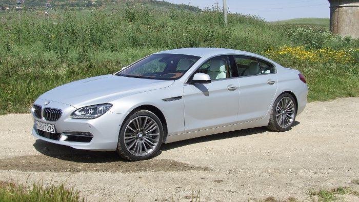 Die Seitenlinie des BMW 640i Grand Coupe.