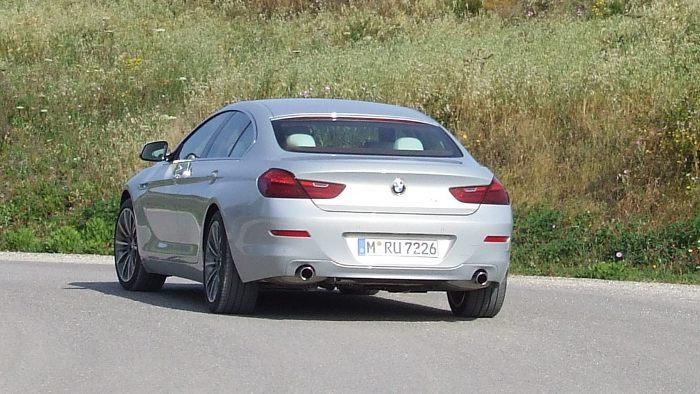 Das Heck des BMW 640i Gran Coupe.