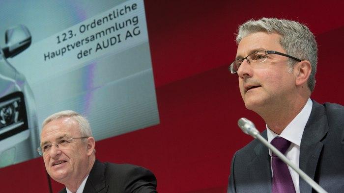VW-Chef Martin Winterkorn und Audi-Chef Rupert Stadler.