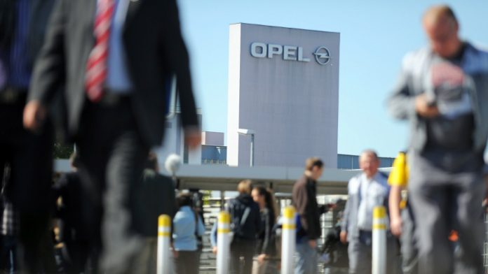 Die Opel-Zentrale in Rüsselsheim