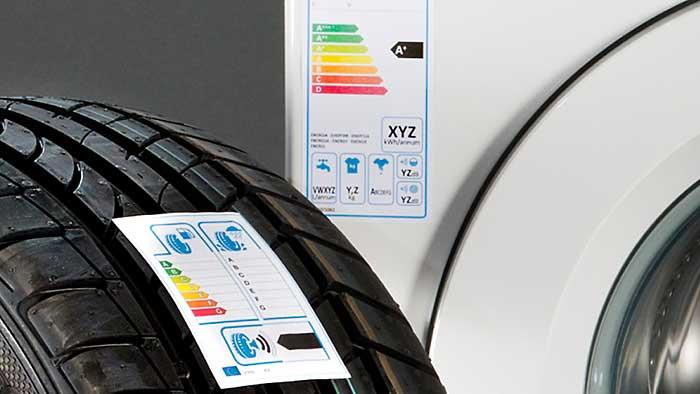 Unbekanntes Reifen-Label
