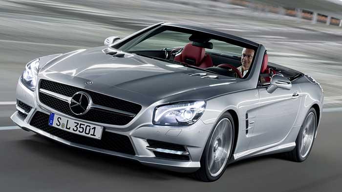 Der Mercees SL 350 ist eine luxuriös ausgestattete Basisversion