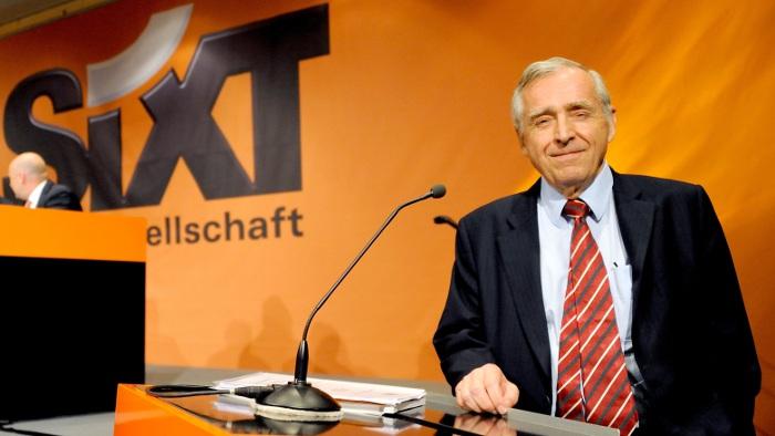 Unternehmenschef Erich Sixt ist zufrieden.
