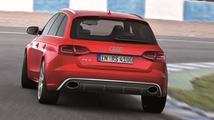 Das Heck des Audi RS4