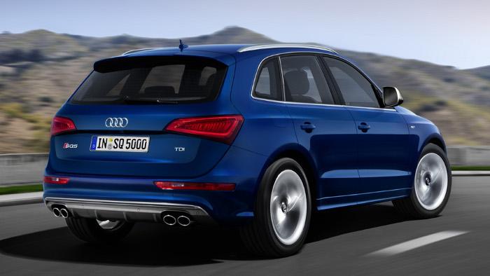 Das Heck des Audi SQ5