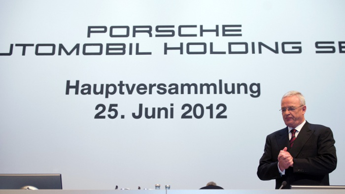 Martin Winterkonr auf der Hauptversammlung der Porsche SE-