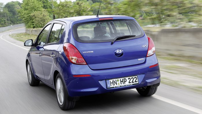 Das Heck des neuen Hyundai i20