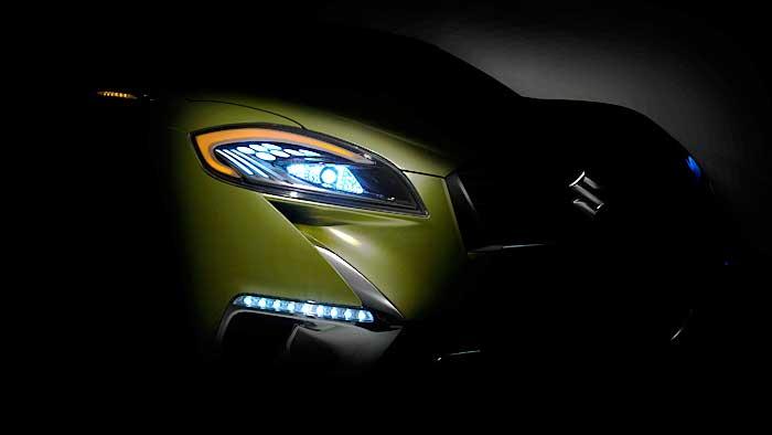 Suzuki feiert Weltpremiere in Paris mit der Studie Concept S-Cross.