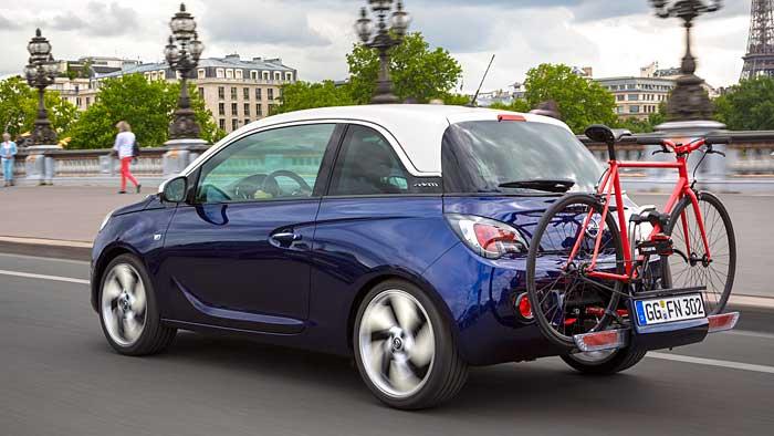 Auch der Opel Adam erhält das praktische Fahrradträger-System.