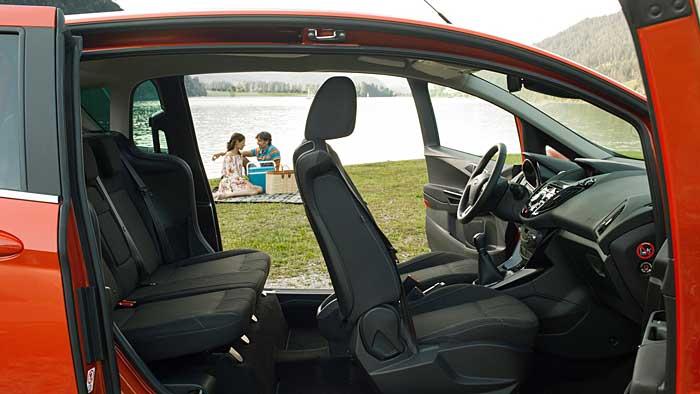 Der Ford B-Max überzeugt nicht nur aufgrund der praktischen Schiebetüren.