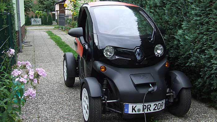 Mit dem Renault Twizy emissionsfrei durch die Hauptstadt.